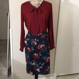 Merona Floral Skirt